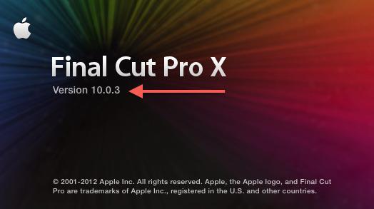 Update Alert: Final Cut Pro X goes to 10.0.3 3