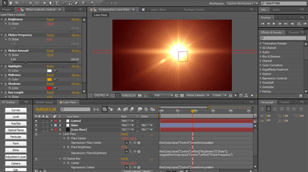 Lens Flares in After Effects 5