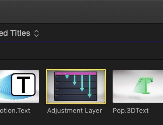 Day 27 #28daysofQuickTips 2018 – Audition Adjustment Layers as Effect Collections in Final Cut Pro X 24