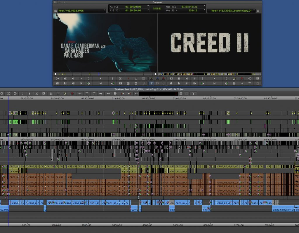 """ART OF THE CUT with the editing team of """"Creed II"""" 35"""