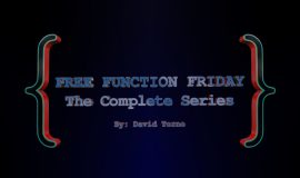 Free Function Friday Complete Series 30
