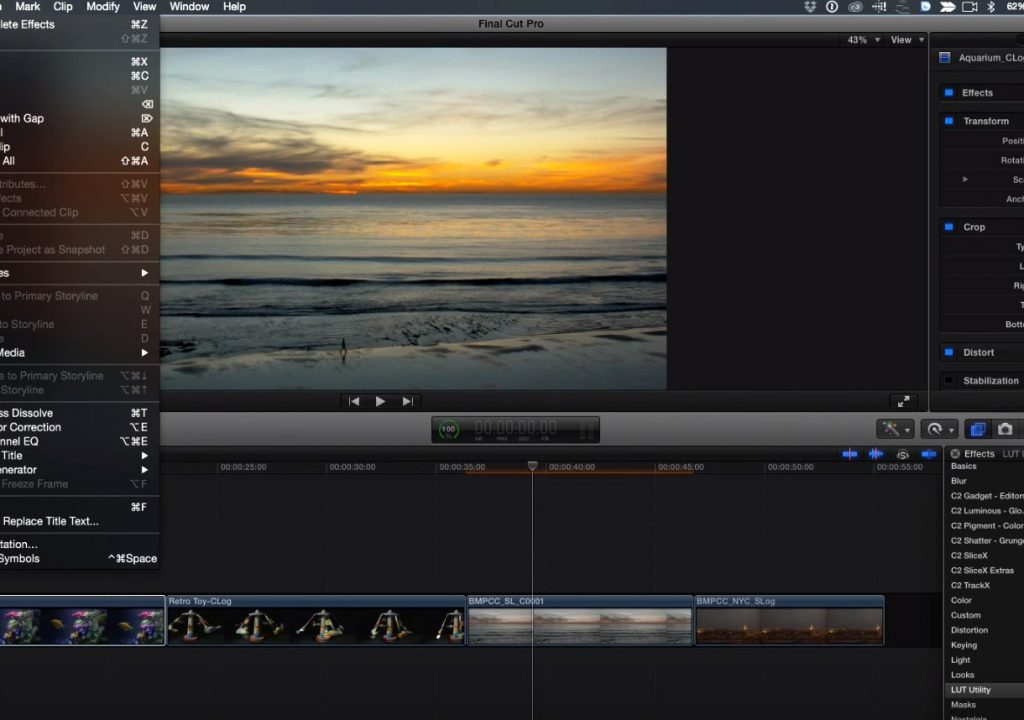 One step LUTs in Final Cut Pro X 1