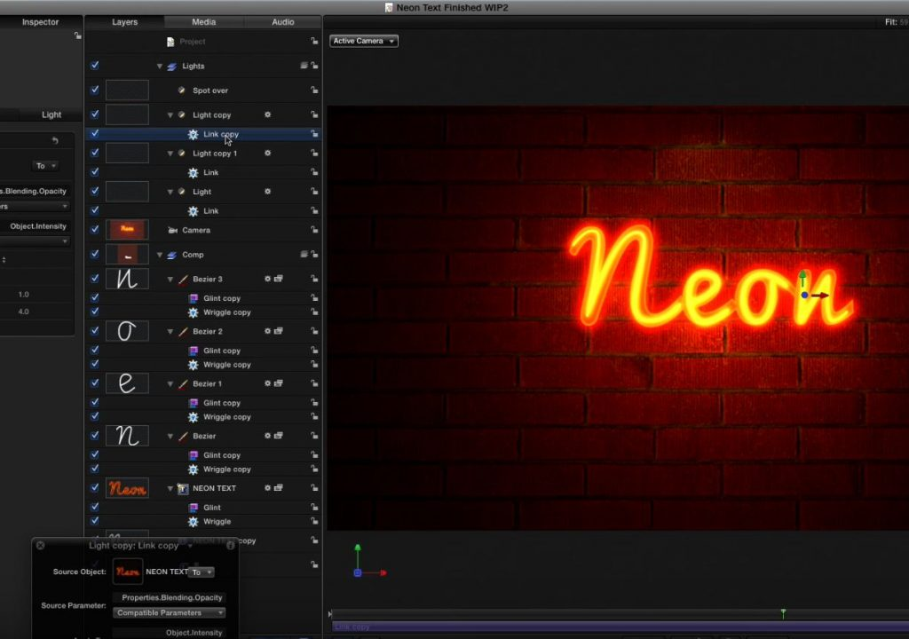 Creating Neon Lights in Motion 1
