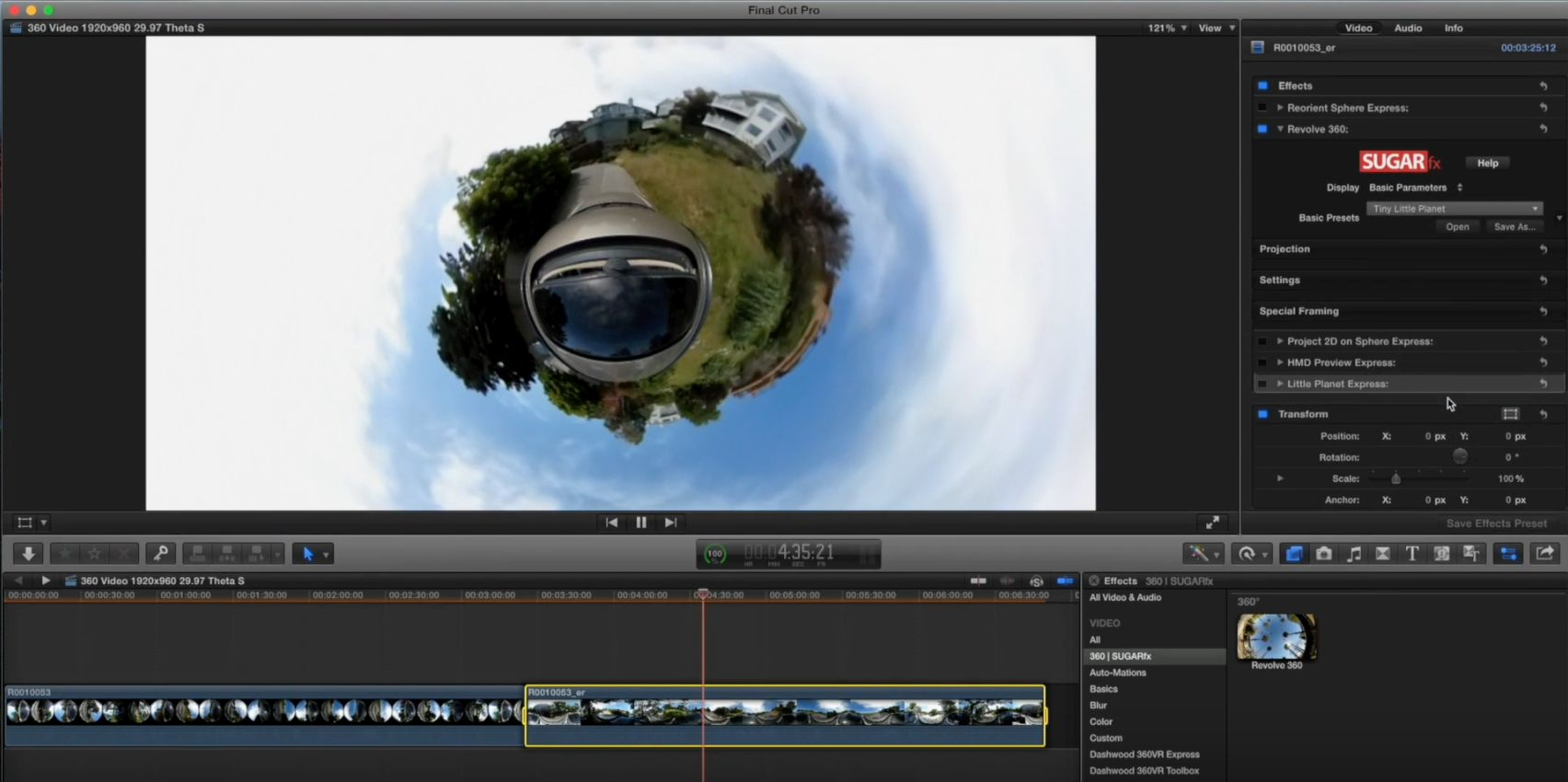 360VR in Final Cut Pro X Part 2 3