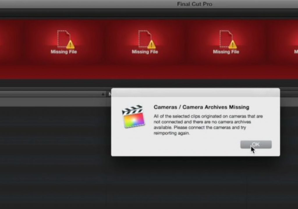 Reimporting from Camera Archives in Final Cut Pro X 1