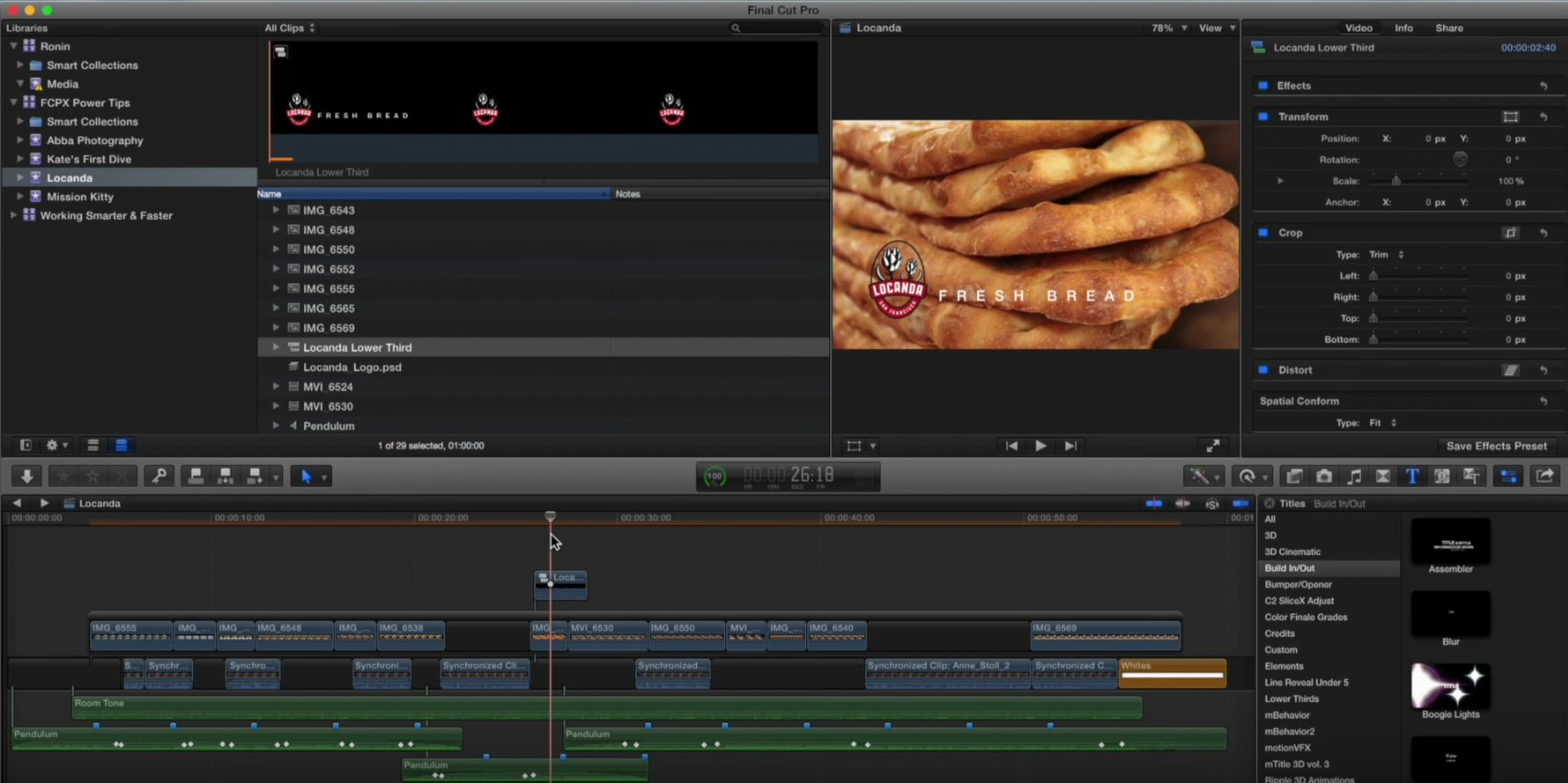 Emancipate your titles in Final Cut Pro X 3