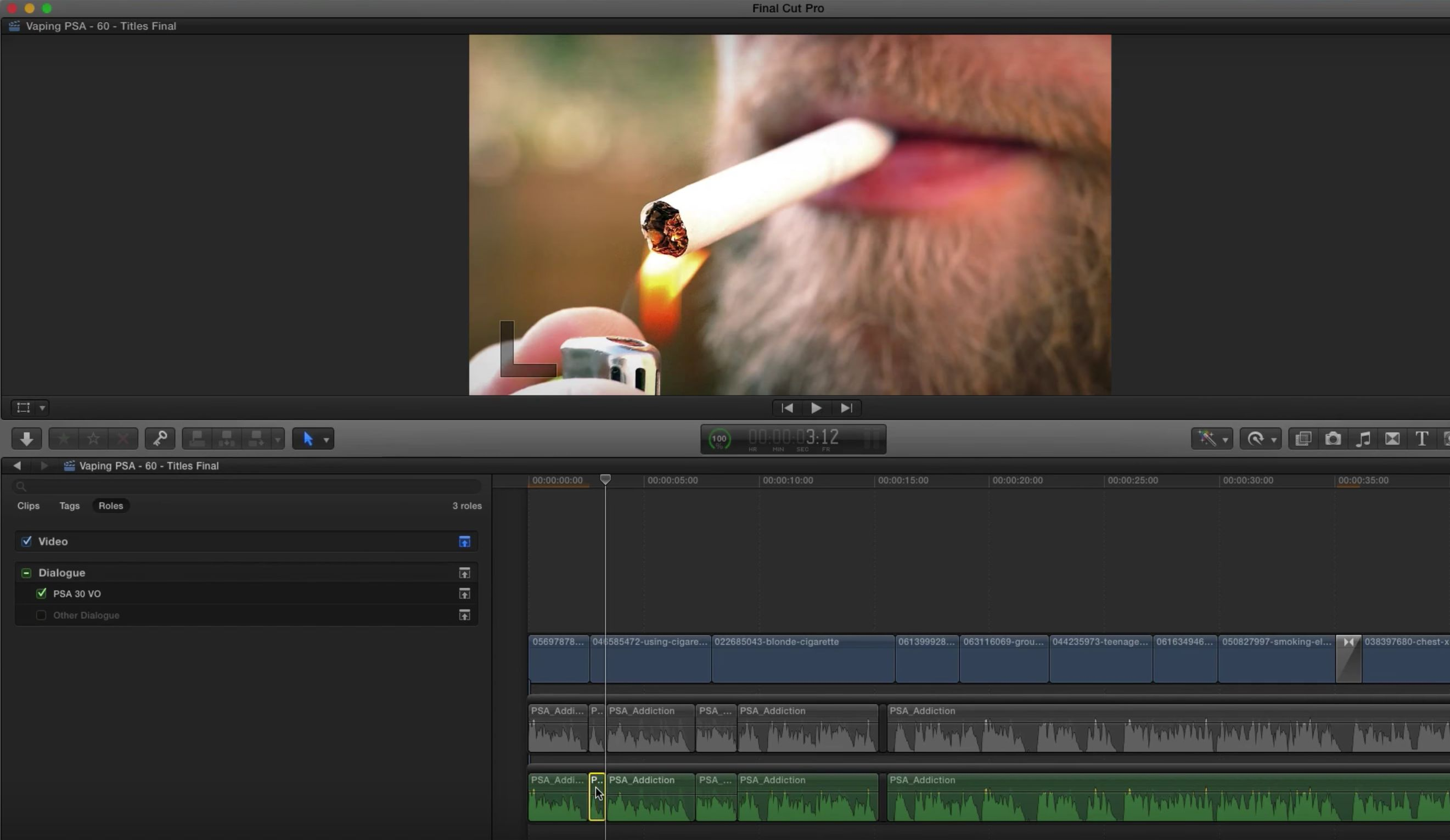 Creating alternate edits with roles in Final Cut Pro X 2