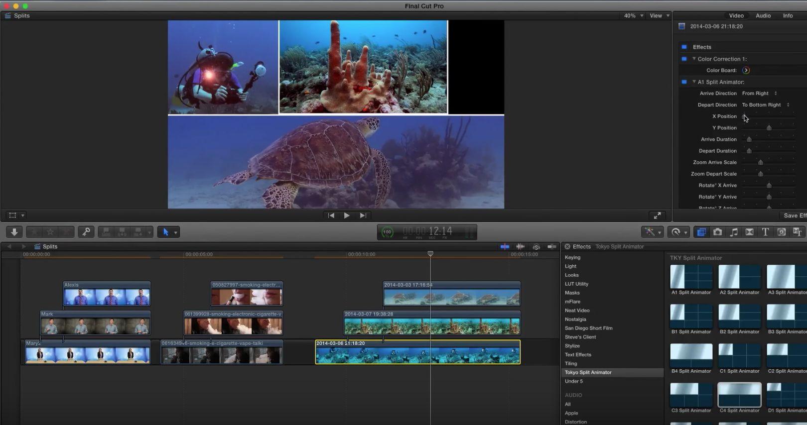 Tokyo Split Animator for Final Cut Pro X 11