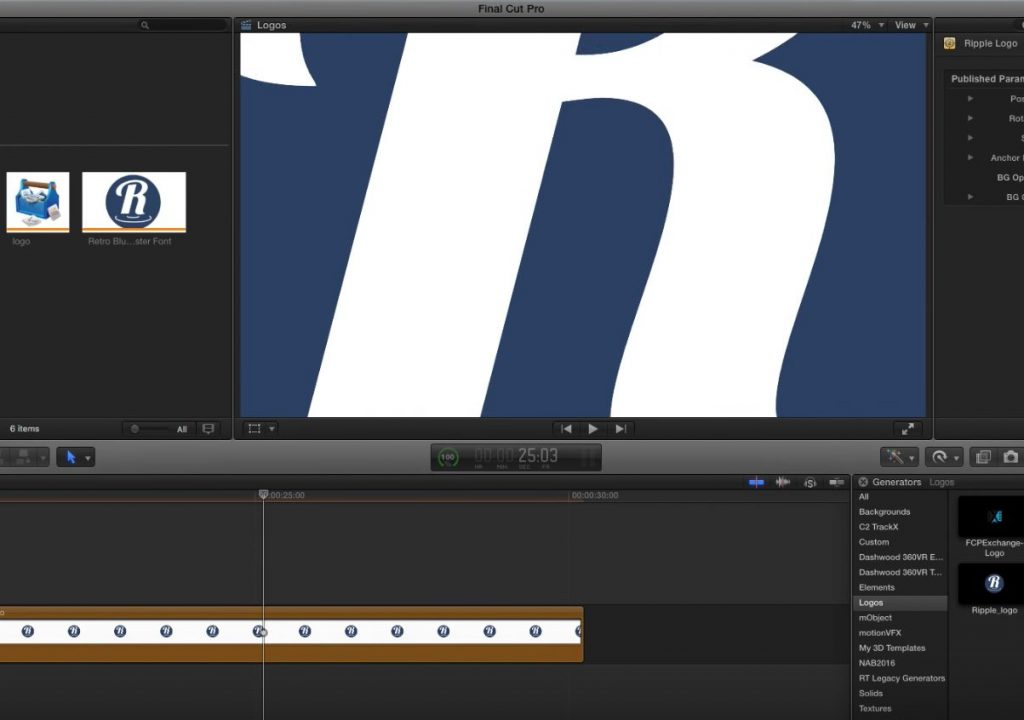 Working with vector graphics in Final Cut Pro X 1