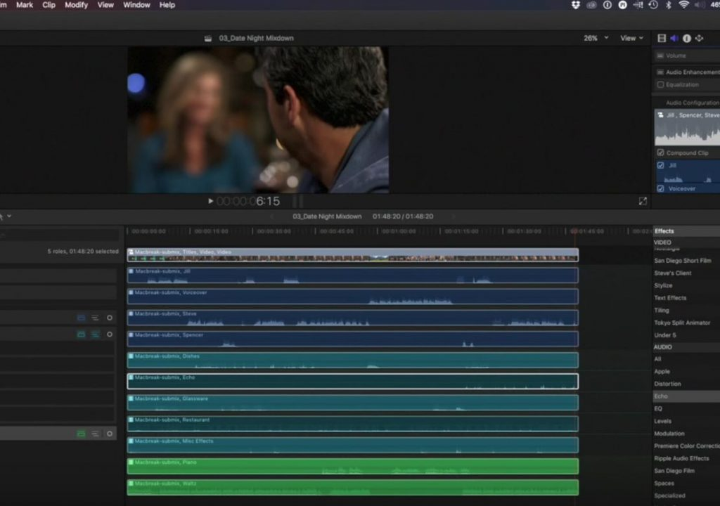 Advanced mixing with Roles in Final Cut Pro 10.3 1