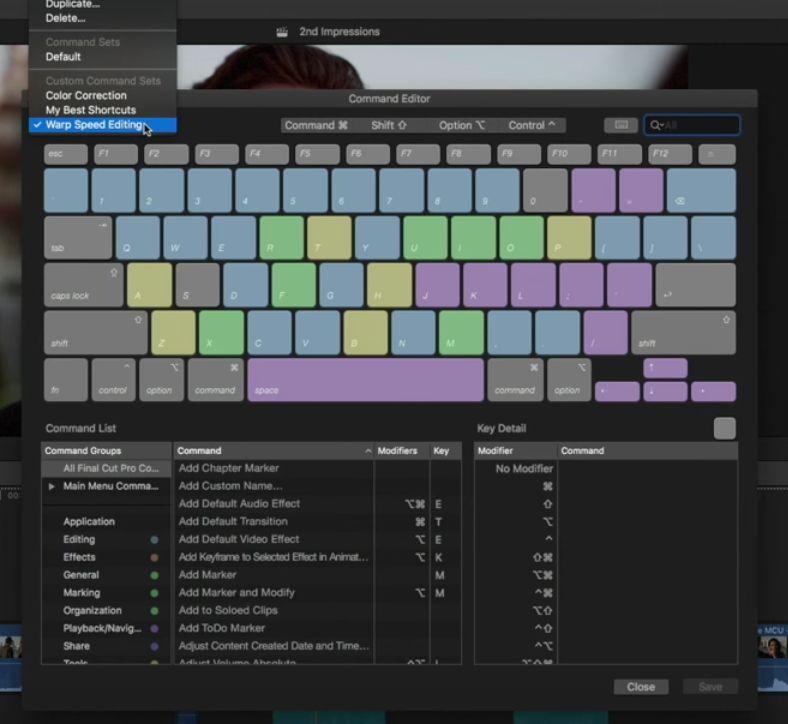 Audio Editing Shortcuts in Final Cut Pro 10.3 6