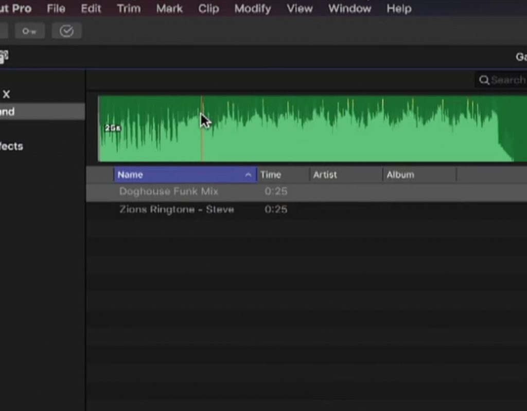 Publishing Music to Final Cut Pro X 1