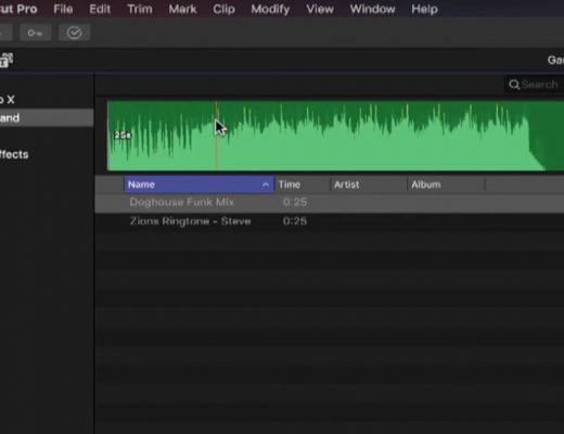 Publishing Music to Final Cut Pro X 10