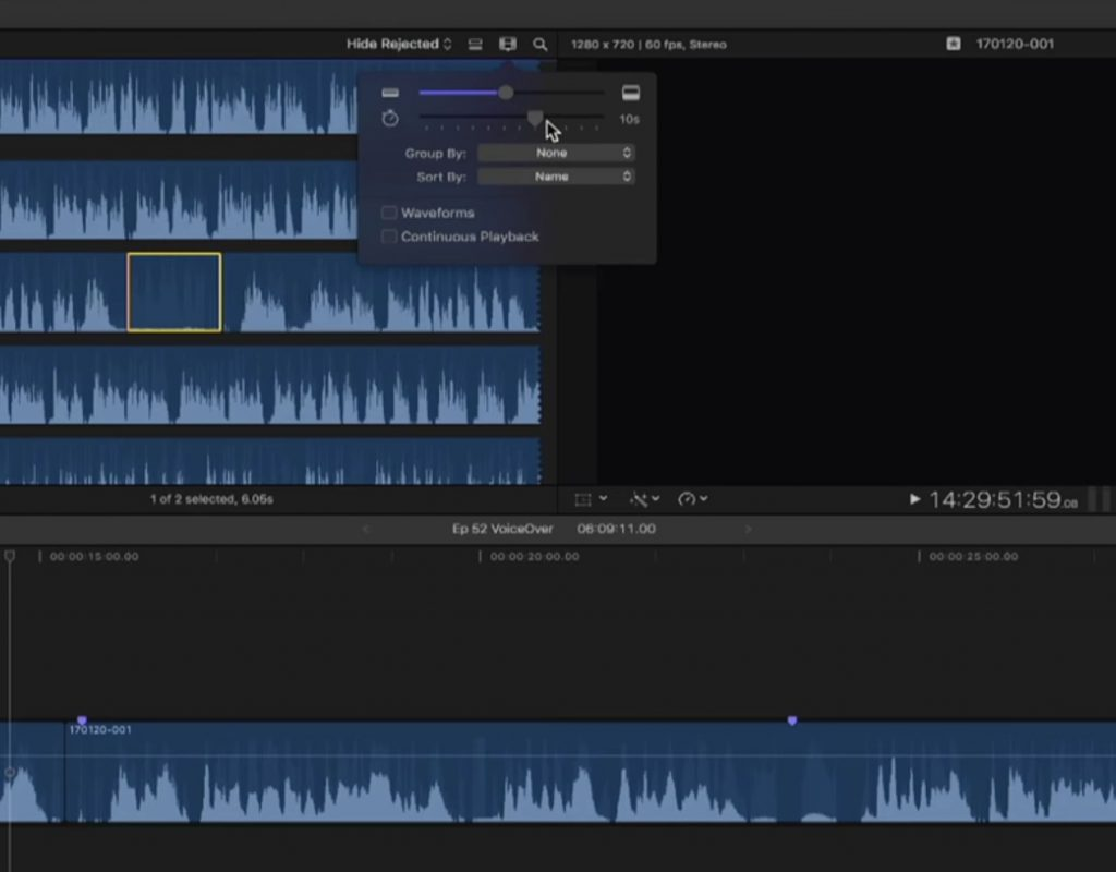 Replace with ambience in Final Cut Pro X 1