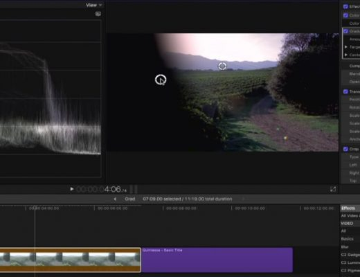 Using Graduated Masks in Final Cut Pro X 7
