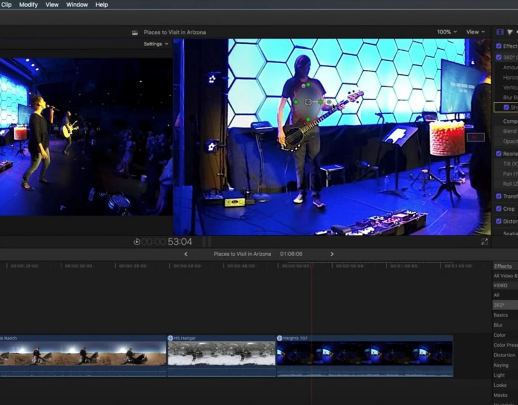 Working with 360 Effects in Final Cut Pro X 1