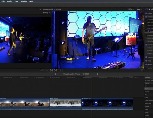 Working with 360 Effects in Final Cut Pro X 8