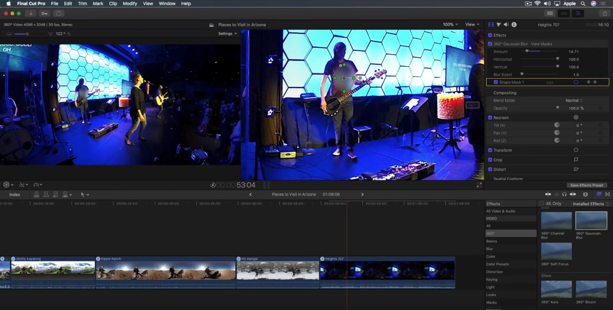 Working with 360 Effects in Final Cut Pro X by Mark Spencer - ProVideo Coalition
