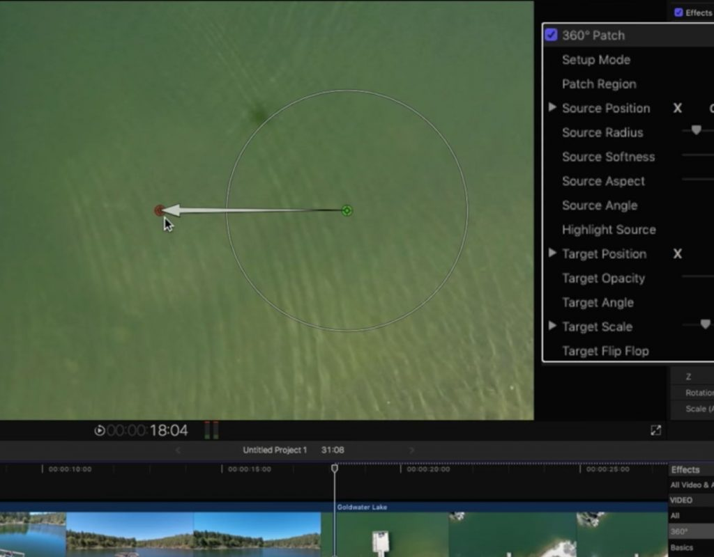 Removing a Drone Shadow in Final Cut Pro X 1