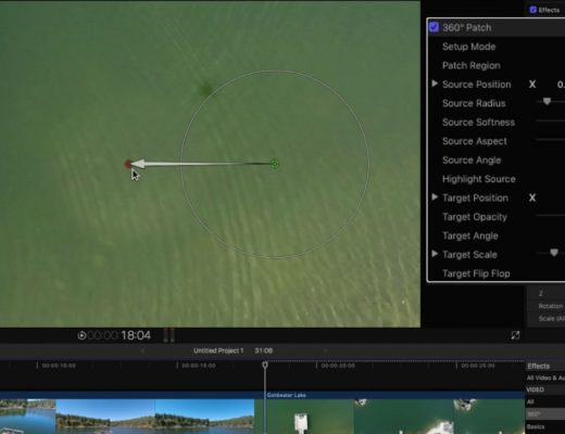 Removing a Drone Shadow in Final Cut Pro X 6