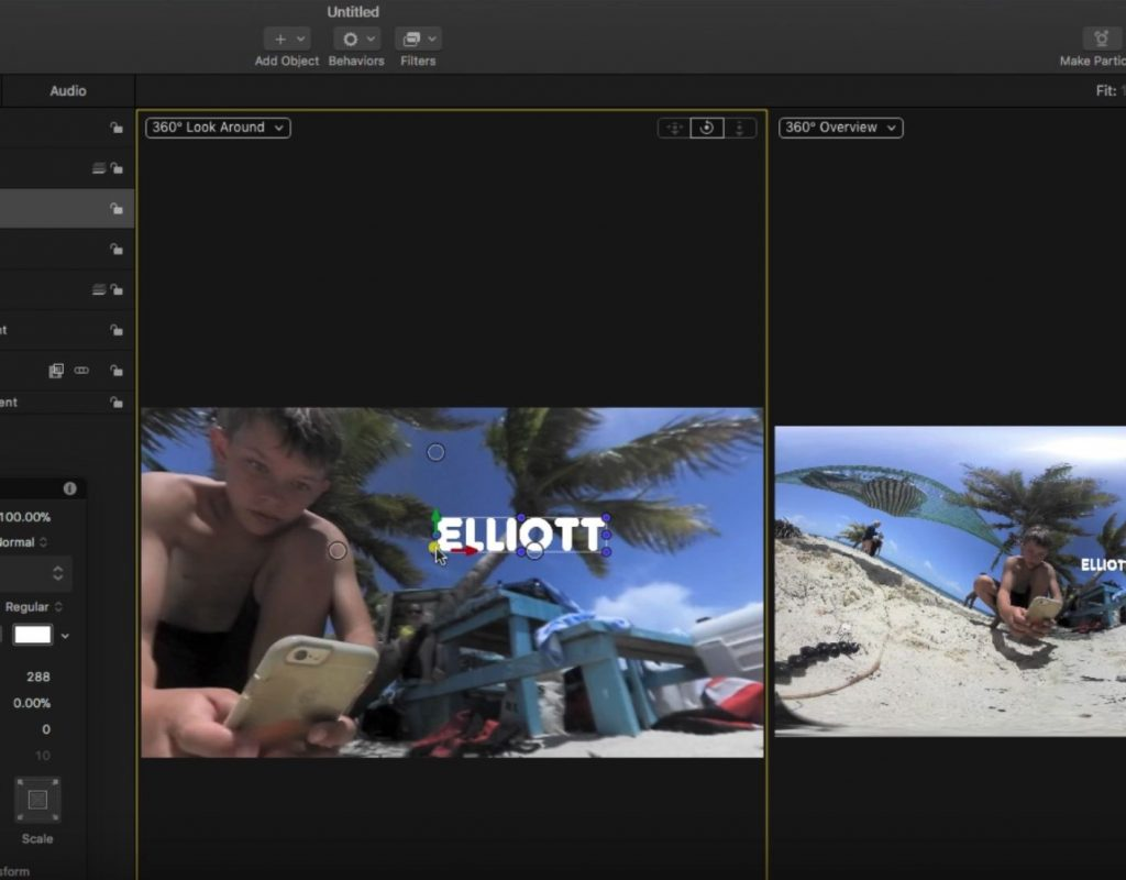 Working with 360 Videos in Motion 4