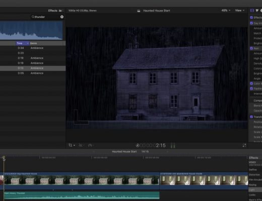 Creating a Dark and Stormy Night in Final Cut Pro X 8