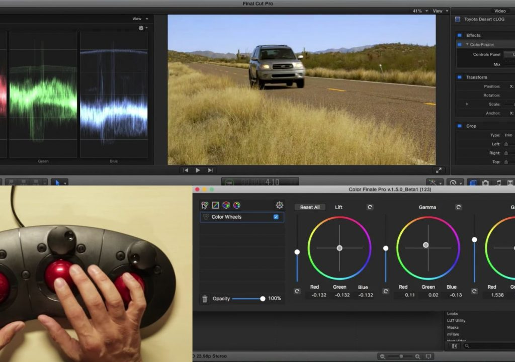 Grading with the Tangent Ripple in Final Cut Pro X 1