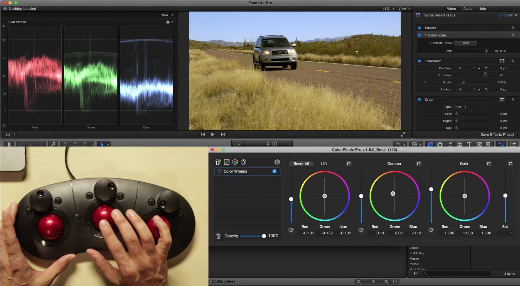 Grading with the Tangent Ripple in Final Cut Pro X 22