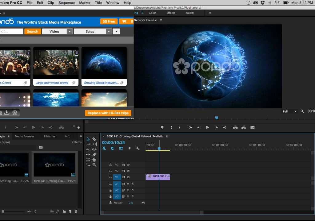 Explore the Details Around the New Stock Plugin for Premiere Pro from Pond5 1