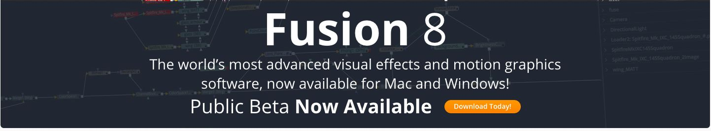 Blackmagic's Fusion 8 for Mac in Beta 5