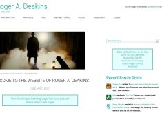 Roger Deakins and His New Website