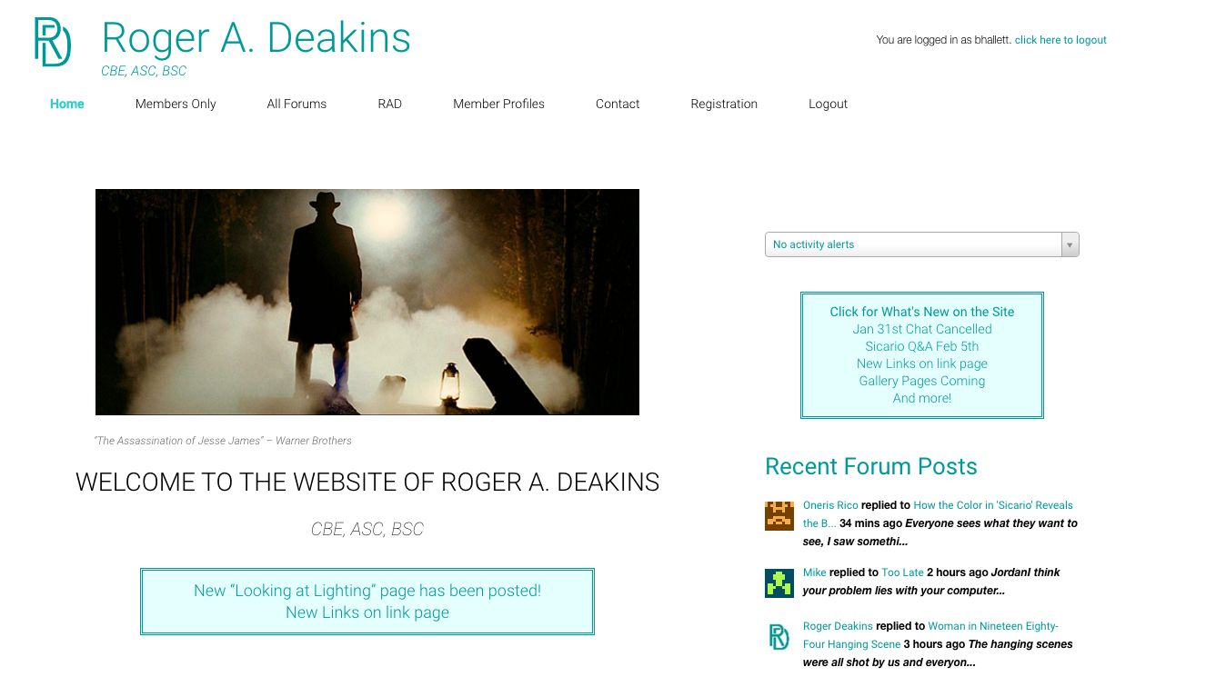 Roger Deakins and His New Website 3