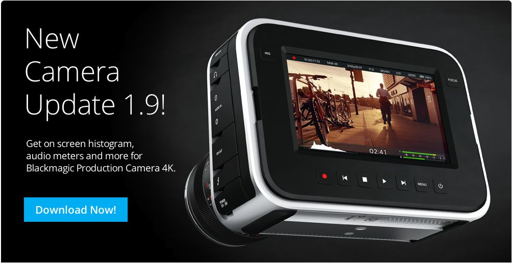 """Blackmagic Production Camera Gets A New """"Heads Up Display"""" 3"""