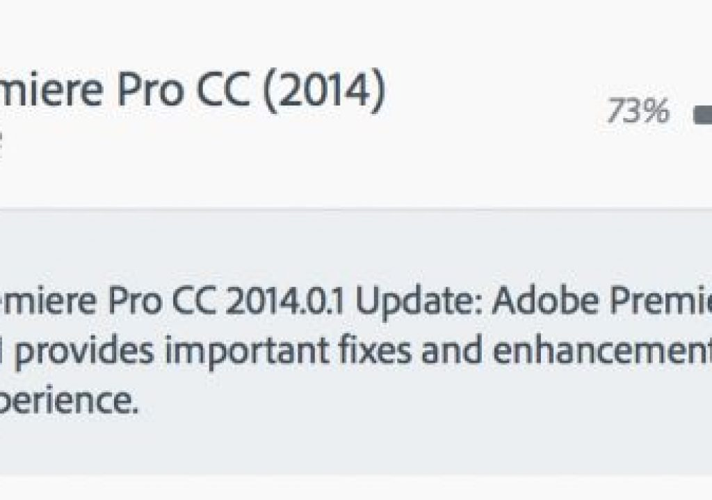 Adobe Premiere Pro CC 2014.0.1 - the biggest little update you'll see today 1