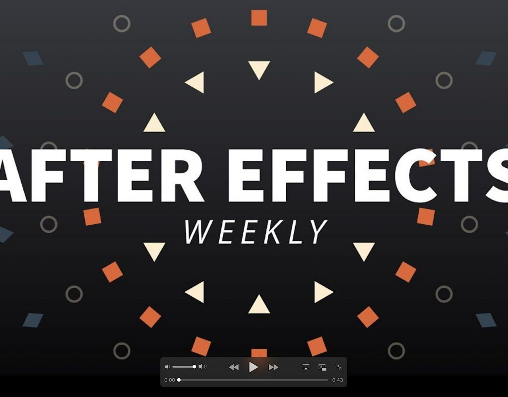 After Effects News 2018 October #1 1