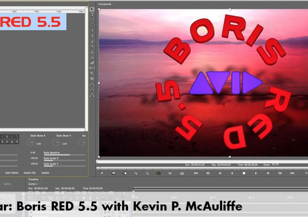 Boris Red 5.5 for Media Composer Editors 1