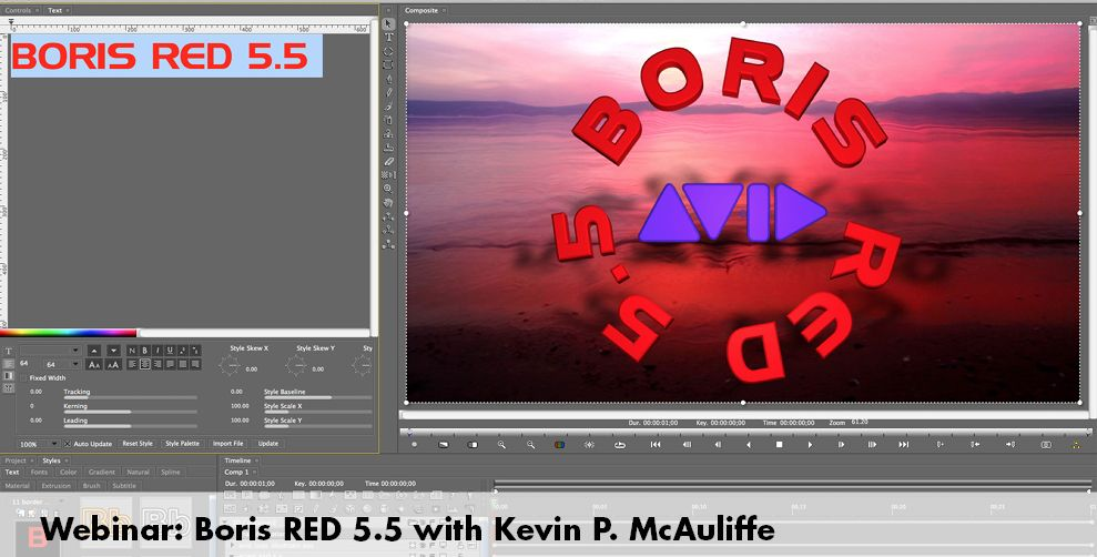 Boris Red 5.5 for Media Composer Editors 6