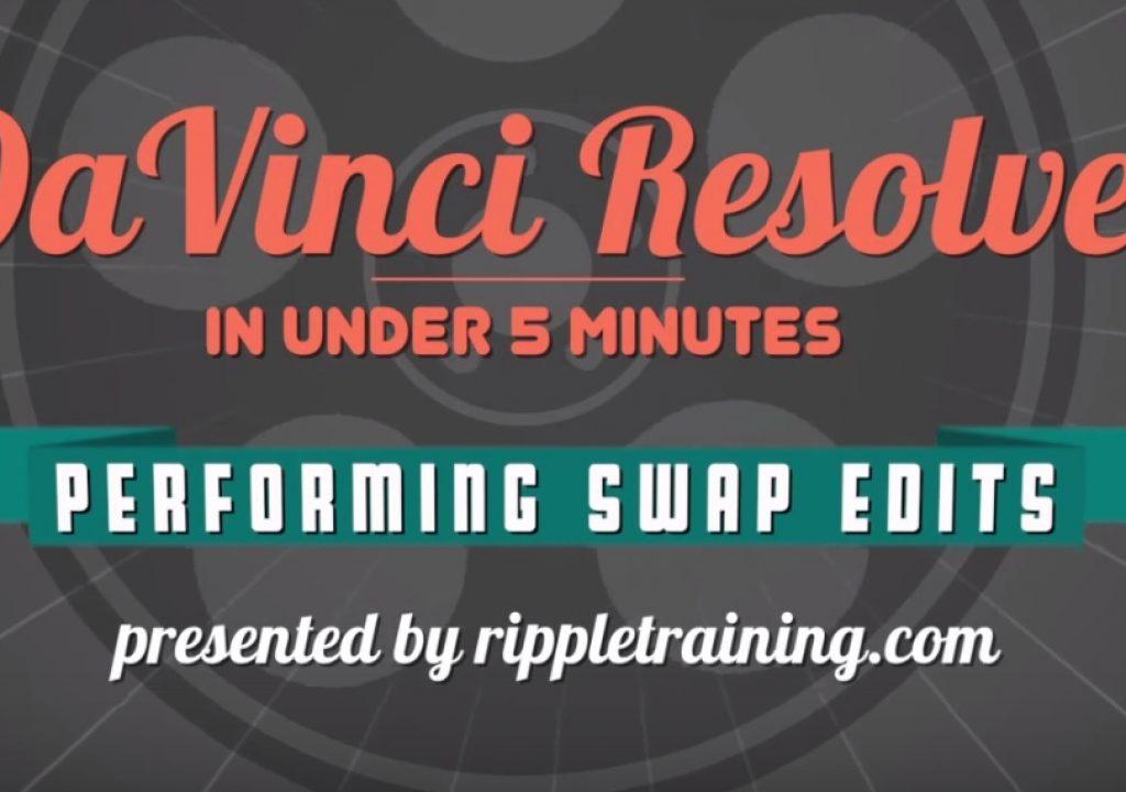 Performing swap edits in DaVinci Resolve 12 1