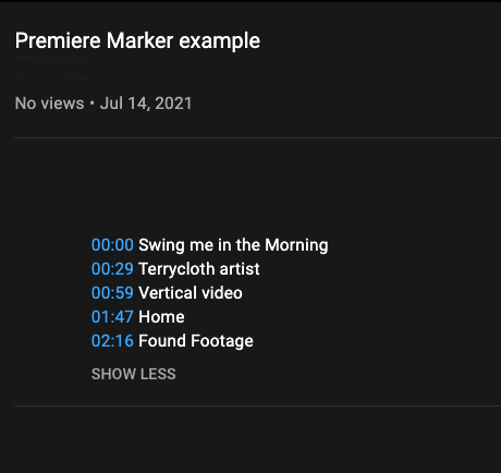 From Markers to YouTube Video Chapters with Adobe Premiere Pro 29