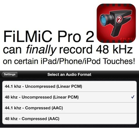 FiLMiC Pro 2 can finally record correct 48 kHz audio! 1