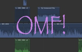A Final Cut Pro X timeline OMF'd into Adobe Audition 1