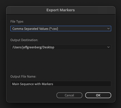From Markers to YouTube Video Chapters with Adobe Premiere Pro 33