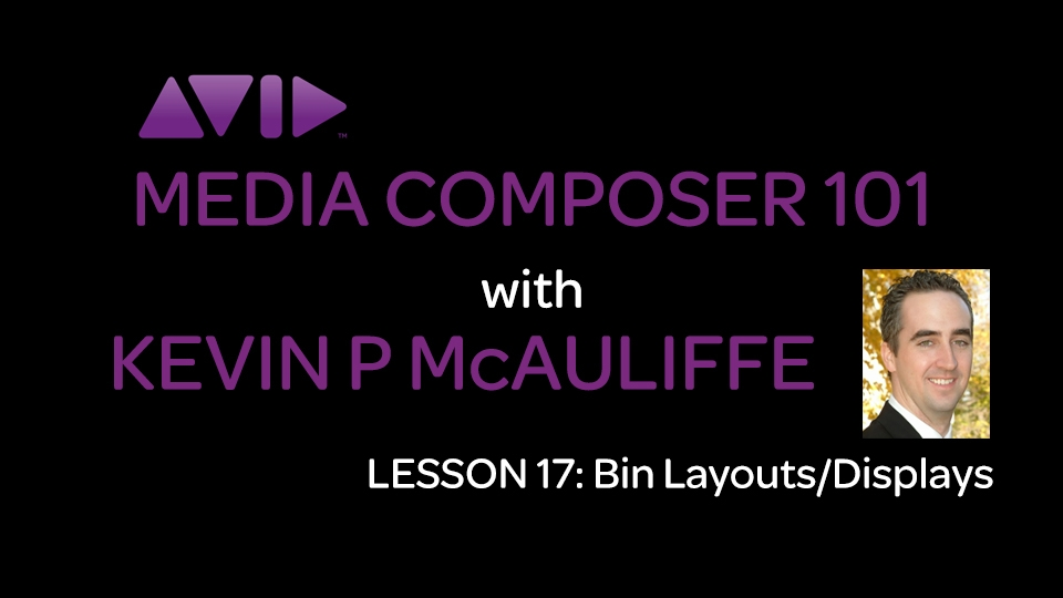 Media Composer 101 - Lesson 17 - Bin Layouts/Displays 4