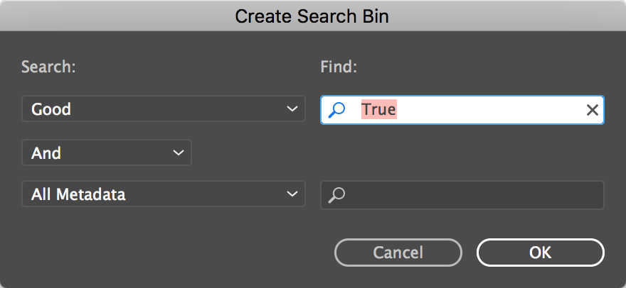 Search Bins: Premiere Pros best kept organizational secret 30