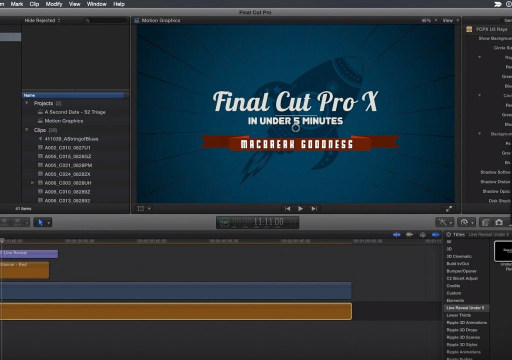 Building a Motion Graphics Toolkit in Final Cut Pro X 1