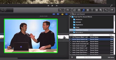 Managing Sound Effects in Final Cut Pro X 14