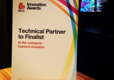 "ITV finalist in IBC2013 Innovation Award for ""ITV and Adobe Story"""