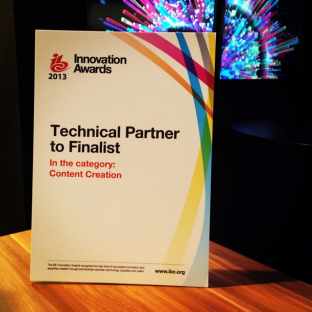 "ITV finalist in IBC2013 Innovation Award for ""ITV and Adobe Story"" 28"