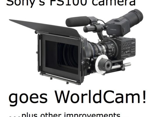 Sony's FS100 camera to become worldcam; via free firmware update 30