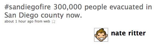 #sandiegofire 300,000 peopl...